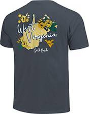 Image One Women's West Virginia Mountaineers Blue Floral State T-Shirt product image