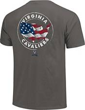 Image One Men's Virginia Cavaliers Grey Sketch USA T-Shirt product image