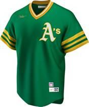 Nike Men's Oakland Athletics Reggie Jackson #9 Green Cooperstown V-Neck Pullover Jersey product image