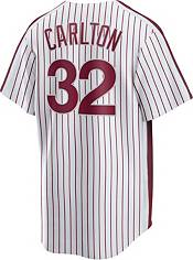 Nike Men's Philadelphia Phillies Steve Carlton #32 Maroon Cooperstown V-Neck Pullover Jersey product image