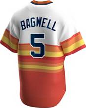Nike Men's Houston Astros Jeff Bagwell #5 Navy Cooperstown V-Neck Pullover Jersey product image