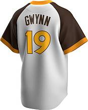 Nike Men's San Diego Padres Tony Gwynn #19 White Cooperstown V-Neck Pullover Jersey product image