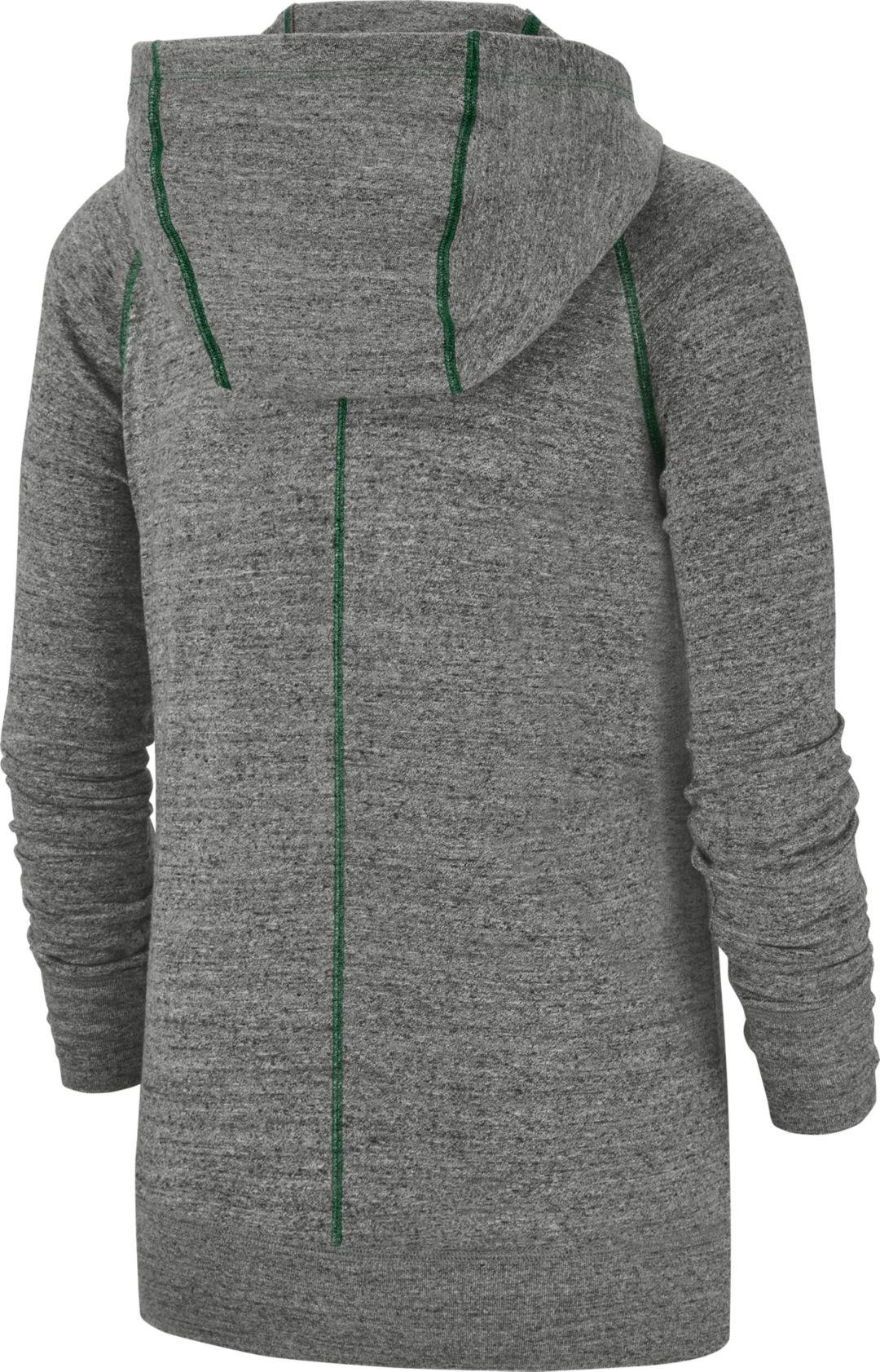 reputable site b50b0 929af Nike Women's New York Jets Vintage Grey Full-Zip Hoodie