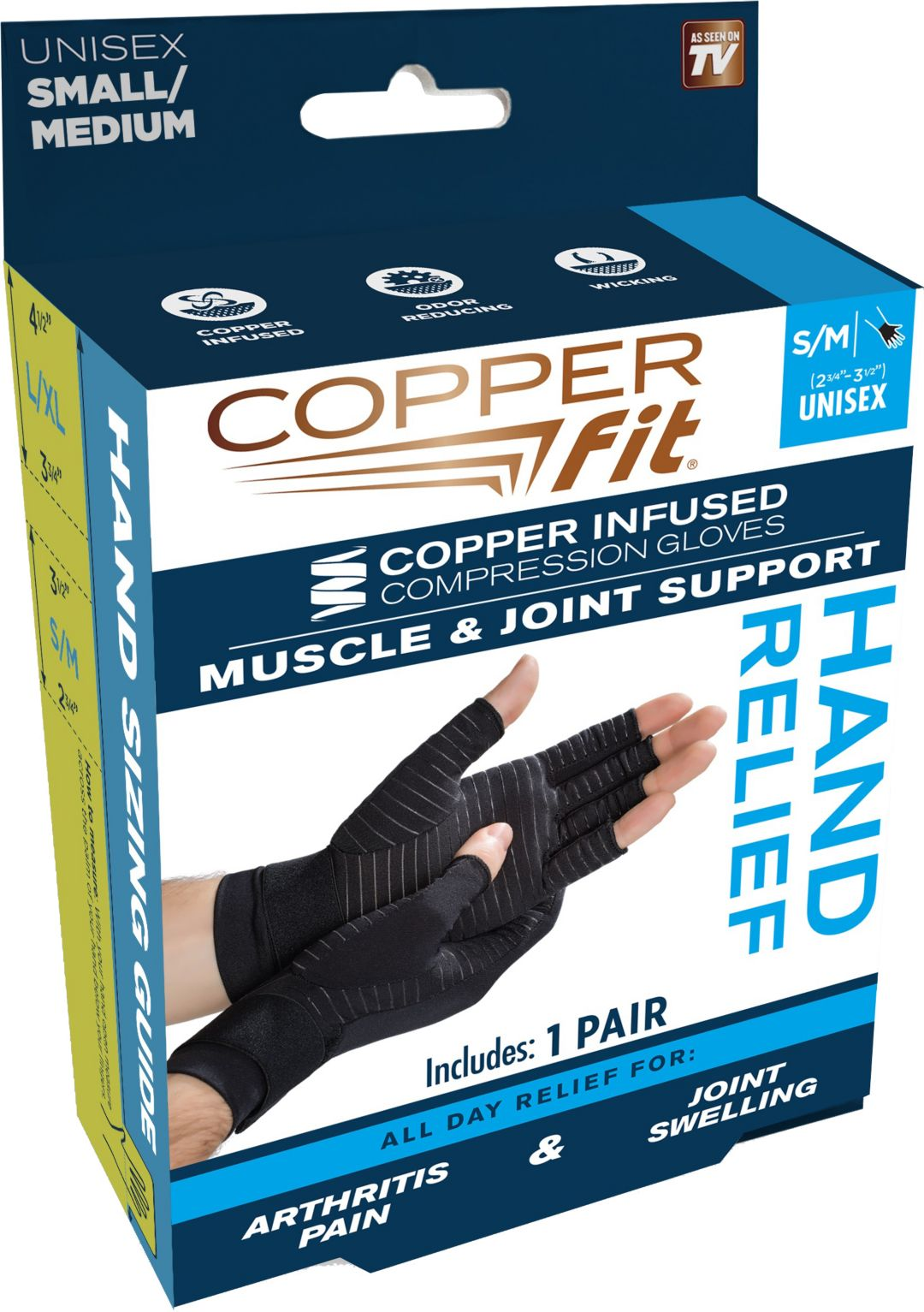 5bb4d03a1a Copper Fit Hand Relief Compression Gloves | DICK'S Sporting Goods