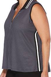 Callaway Women's Mini Foulard Sleeveless Golf Polo – Extended Sizes product image
