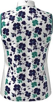 Callaway Women's Printed Floral Sleeveless Golf Polo Shirt product image