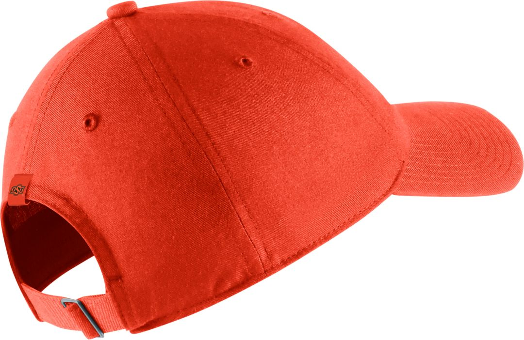 a6753326e Nike Men's Oklahoma State Cowboys Orange Heritage86 Adjustable Hat