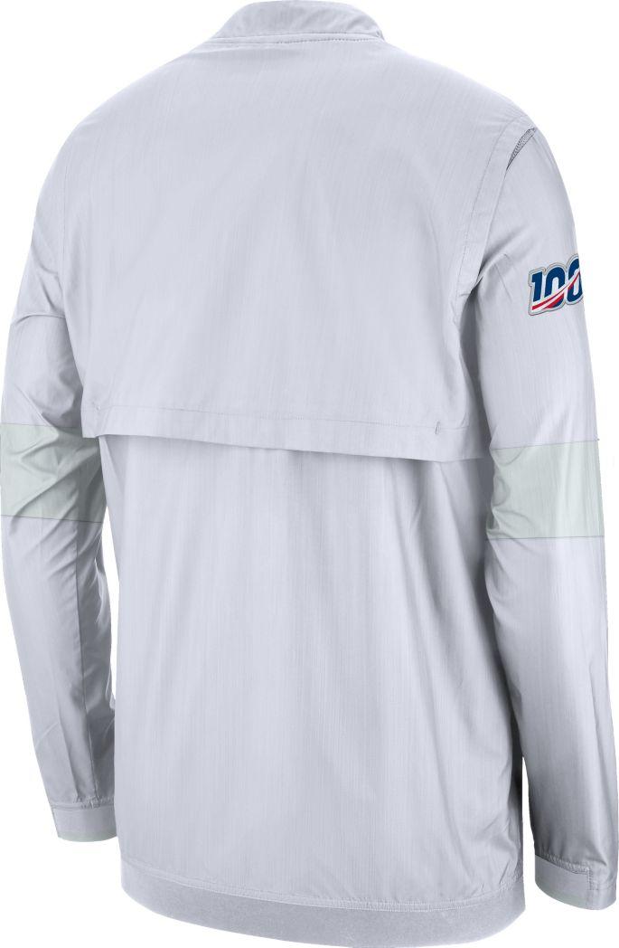 new styles d30ef ba73b Nike Men's New England Patriots Sideline Coach White Half-Zip Performance  Jacket