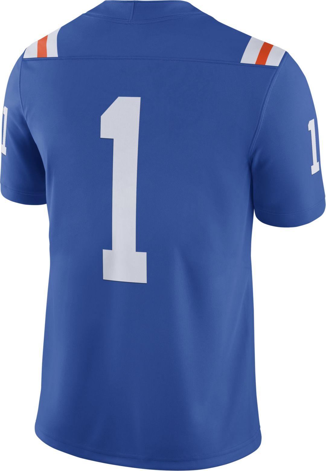 quality design 0b9fc 1606d Jordan Men's Florida Gators #1 Blue Dri-FIT Game Football Jersey