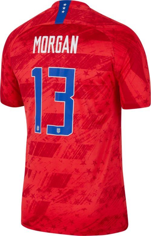 dc039c83fd6 Nike Men s 2019 FIFA Women s World Cup USA Soccer Alex Morgan  13 Breathe Stadium  Away Replica Jersey. noImageFound. Previous. 1. 2. 3