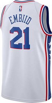 Nike Men's Philadelphia 76ers Joel Embiid #21 White Dri-FIT Swingman Jersey product image
