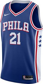Nike Men's Philadelphia 76ers Joel Embiid #21 Royal Dri-FIT Swingman Jersey product image