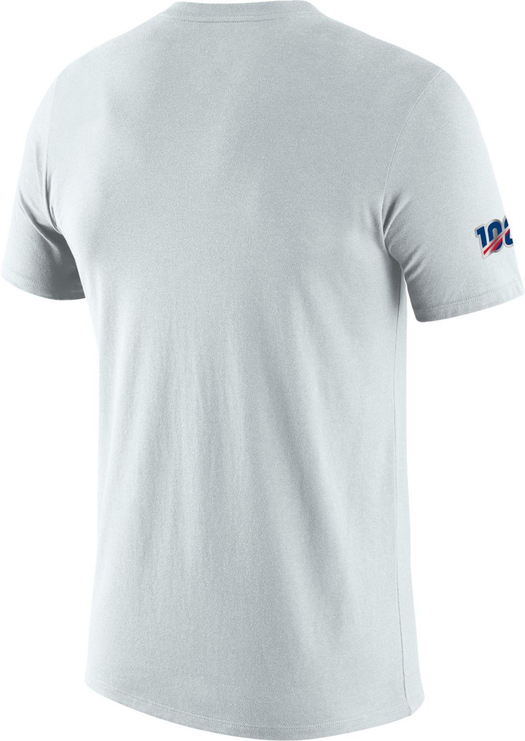 sale retailer ff046 aa944 Nike Men's New Orleans Saints 100th Sideline Legend Performance White  T-Shirt