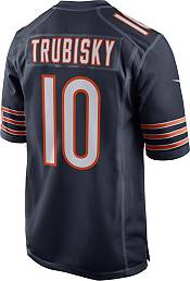 Nike Men's Chicago Bears Mitchell Trubisky #10 100th Navy Game Jersey product image