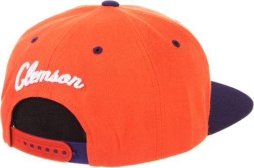 sale retailer f1ce8 2b243 Zephyr Men s Clemson Tigers Orange Regalia Script Adjustable Snapback Hat