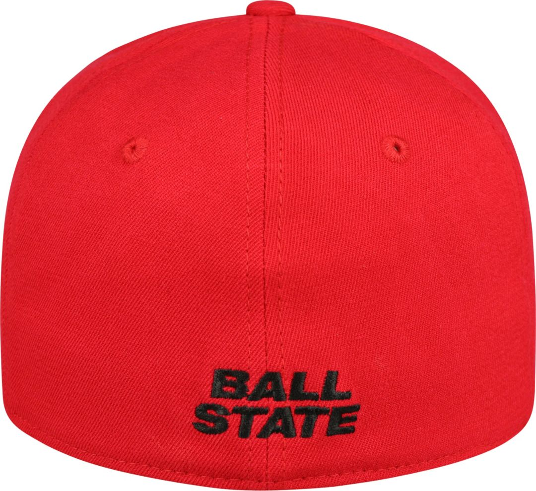 7bfef565 Top of the World Men's Ball State Cardinals Premium Collection Cardinal  M-Fit Hat