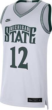 Nike Men's Michigan State Spartans #12 Limited Throwback Basketball White Jersey product image