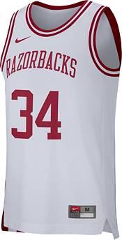 Nike Men's Arkansas Razorbacks #34 Replica Retro Basketball White Jersey product image