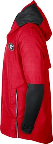 Nike Men's Georgia Bulldogs Red Lightweight Football Sideline Player's Jacket product image