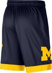 Jordan Men's Michigan Wolverines Blue Dri-FIT Knit Shorts product image