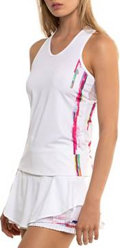 Lucky In Love Women's Techno Stripe Tennis Tank Top product image