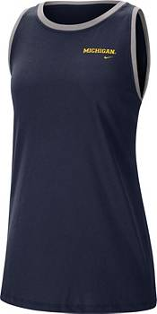 Nike Women's Michigan Wolverines Blue Dri-FIT Tomboy Tank Top product image