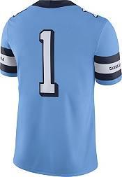 Nike Men's North Carolina Tar Heels #1 Carolina Blue Throwback Game Football Jersey product image