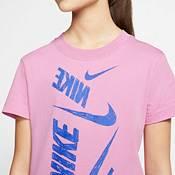 Nike Sportswear Girls' Swoosh Markmash Droptail Tee product image