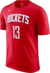 Nike Men's Houston Rockets James Harden #13 Red Cotton T-Shirt product image