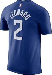 Nike Men's Los Angeles Clippers Kawhi Leonard #2 Blue Cotton T-Shirt product image