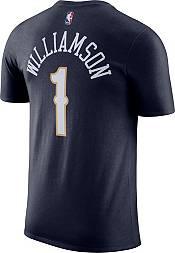 Nike Men's New Orleans Pelicans Zion Williamson #1 Navy Cotton T-Shirt product image
