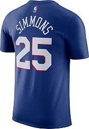 Nike Men's Philadelphia 76ers Ben Simmons #25 Blue Cotton T-Shirt product image