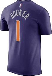 Nike Men's Phoenix Suns Devin Booker #1 Purple Cotton T-Shirt product image