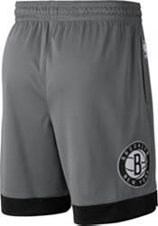 Jordan Men's Brooklyn Nets Grey Dri-FIT Statement Swingman Shorts product image