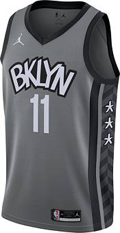 Jordan Men's Brooklyn Nets Kyrie Irving #11 Grey 2020-21 Dri-FIT Statement Swingman Jersey product image