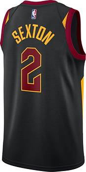 Jordan Men's Cleveland Cavaliers Collin Sexton #2 2020-21 Dri-FIT Statement Swingman Black Jersey product image