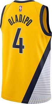 Jordan Men's Indiana Pacers Victor Oladipo #4 Gold 2020-21 Dri-FIT Statement Swingman Jersey product image