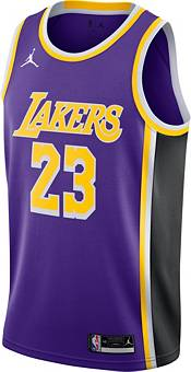 Jordan Men's Los Angeles Lakers LeBron James #23 Purple 2020-21 Dri-FIT Statement Swingman Jersey product image