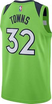 Jordan Men's Minnesota Timberwolves Karl-Anthony Towns #32 Green 2020-21 Dri-FIT Statement Swingman Jersey product image