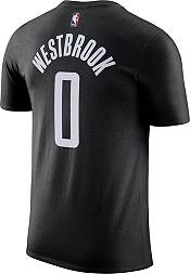 Jordan Men's Houston Rockets Russell Westbrook #0 Statement Black T-Shirt product image