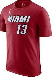 Jordan Men's Miami Heat Bam Adebayo #13 Red Statement T-Shirt product image