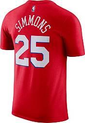 Jordan Men's Philadelphia 76ers Ben Simmons #25 Red Statement T-Shirt product image