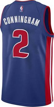 Nike Men's Detroit Pistons Cade Cunningham #2 Blue Dri-FIT Swingman Jersey product image