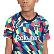 Nike Youth FC Barcelona Blue Prematch Jersey product image