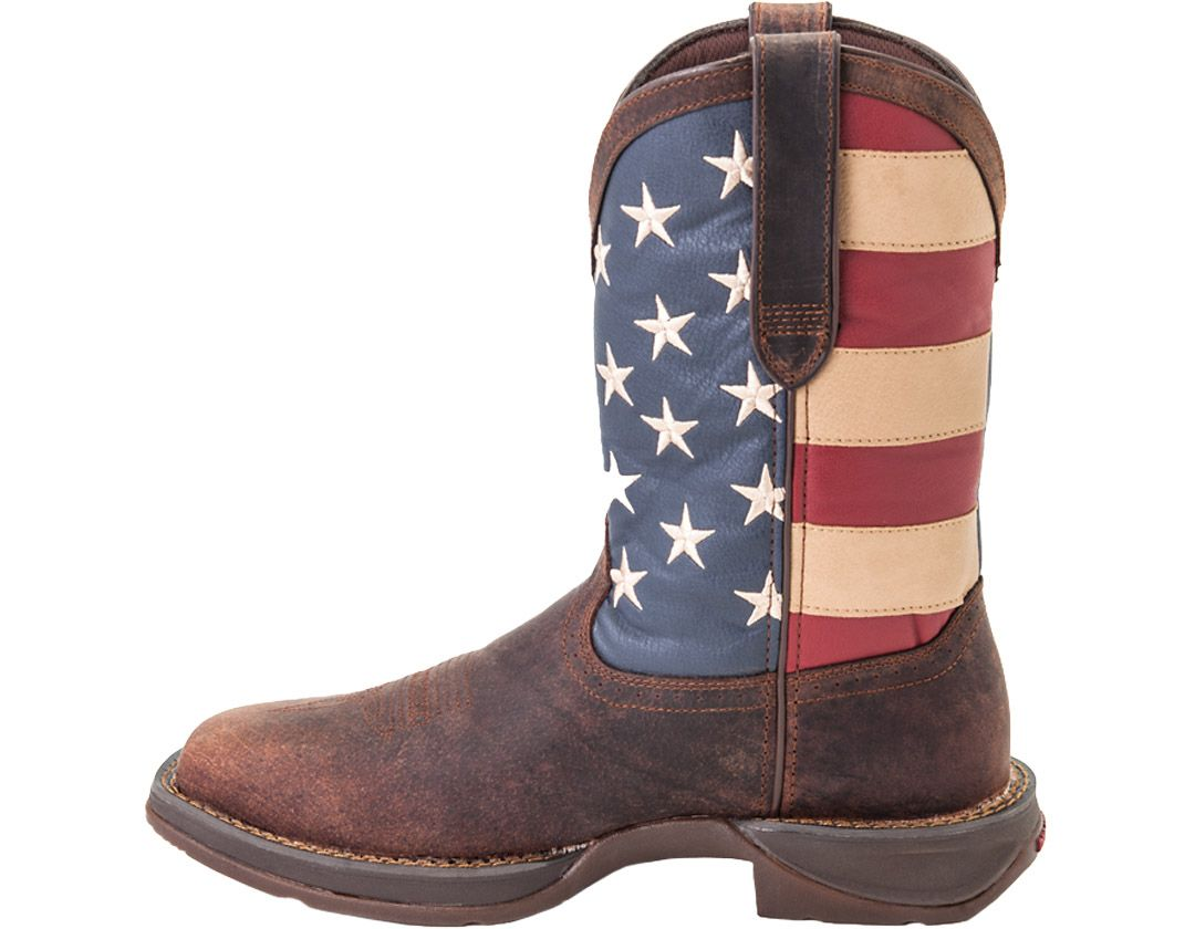 676d0668ac0 Durango Men's American Flag Pull-On Western Work Boots