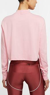 Nike Women's Sportswear Lipstick Cropped Long-Sleeve T-Shirt product image