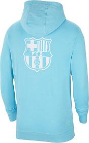 Nike Men's FC Barcelona Beach Wash Blue Pullover Hoodie product image