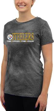 Concepts Sport Women's Pittsburgh Steelers Tie Dye Black Short-Sleeve Top product image