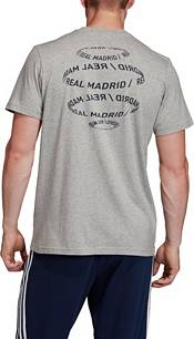 adidas Men's Real Madrid DNA Graphic Heather Grey T-Shirt product image