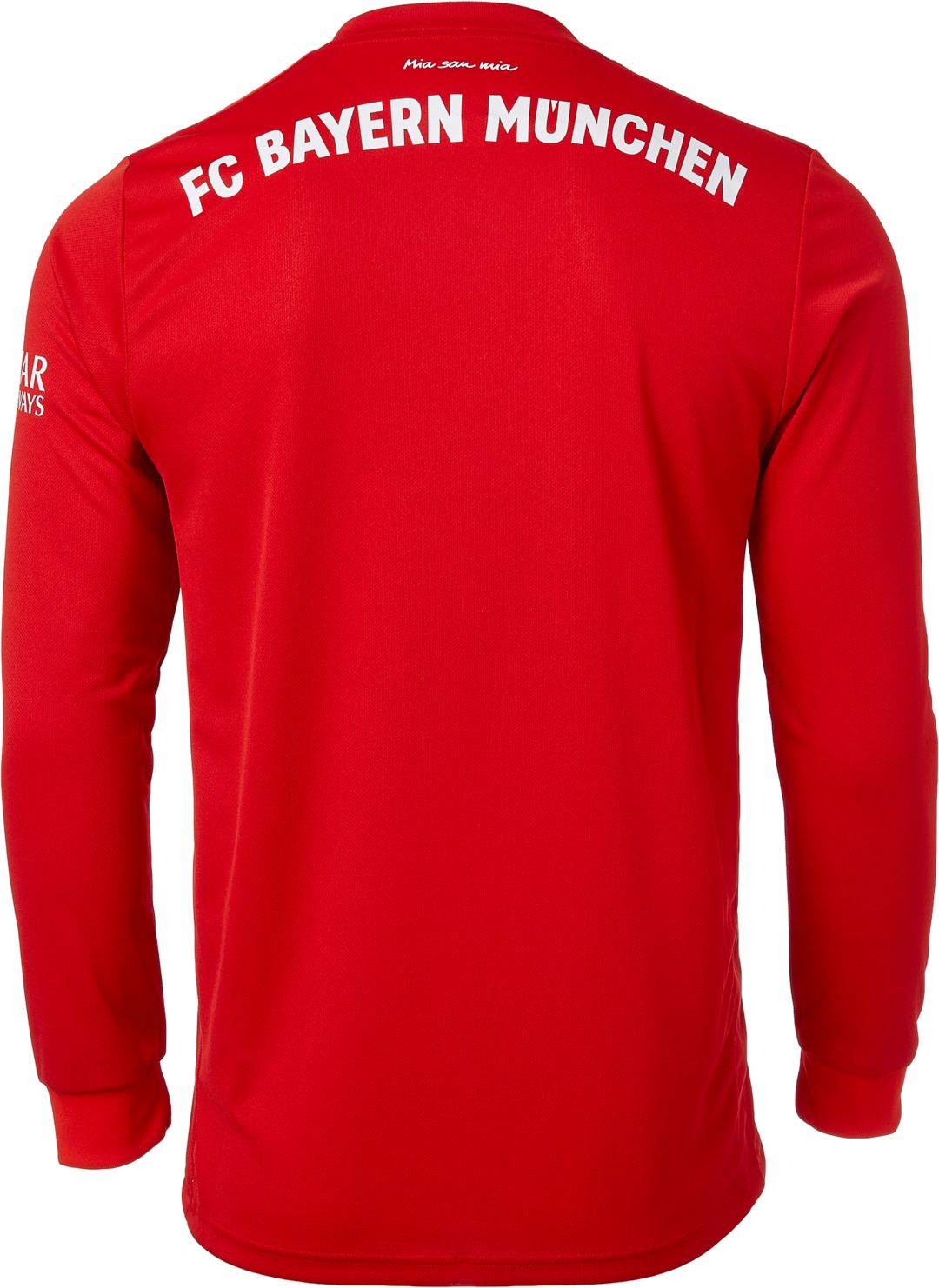 new arrival ea436 fb3ee adidas Men's Bayern Munich '19 Stadium Home Replica Long Sleeve Jersey